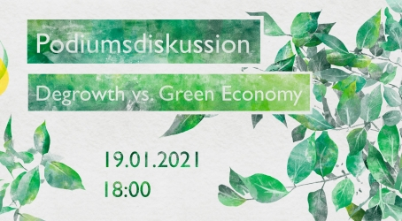 "Podiumsdiskussion ""Degrowth vs. Green Economy"""