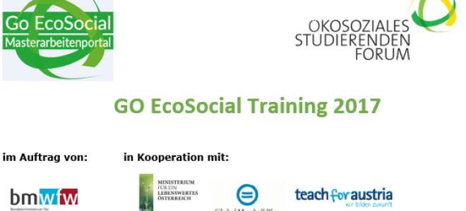 GO EcoSocial Training 2017