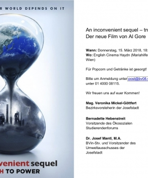 Filmscreening: An inconvenient sequel – truth to power