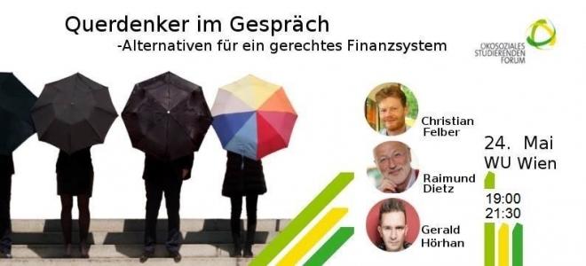 Querdenker im Gespräch – Alternativen für ein gerechtes Finanzsystem