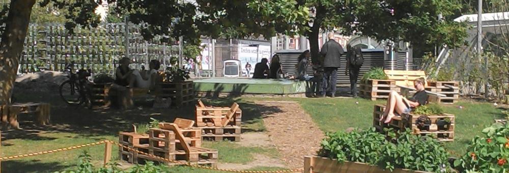 Urbanes Gärtnern am Karls Platz